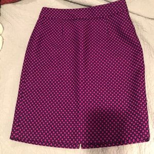 Vibrant magenta and navy pencil skirt from BR